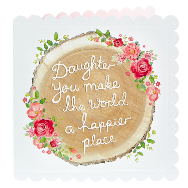 Birthday Card - Daughter, Happier Place