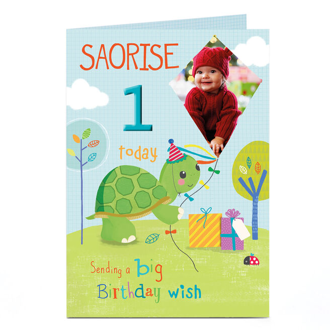 Photo Any Age Birthday Card - Tortoise &�Kite