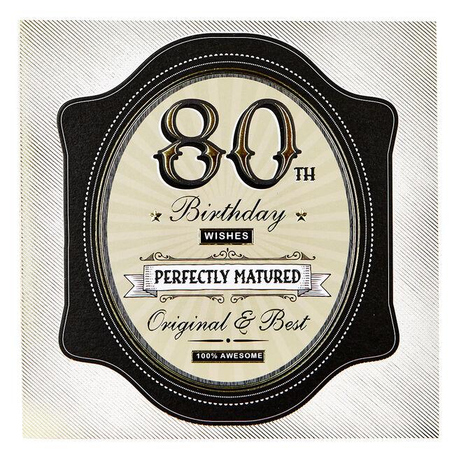 Platinum Collection 80th Birthday Card - Original & Best