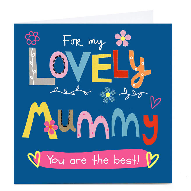 Personalised Lindsay Loves To Draw Card - Lovely Mummy
