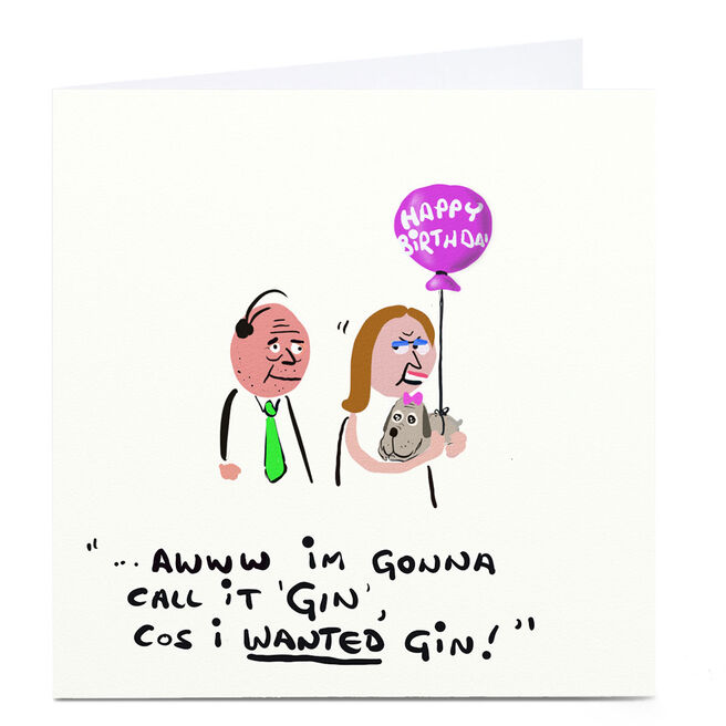 Personalised Do Something David Birthday Card - I Wanted Gin