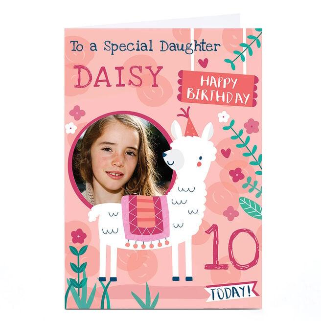 Photo Juniper & Rose Birthday Card - Llama