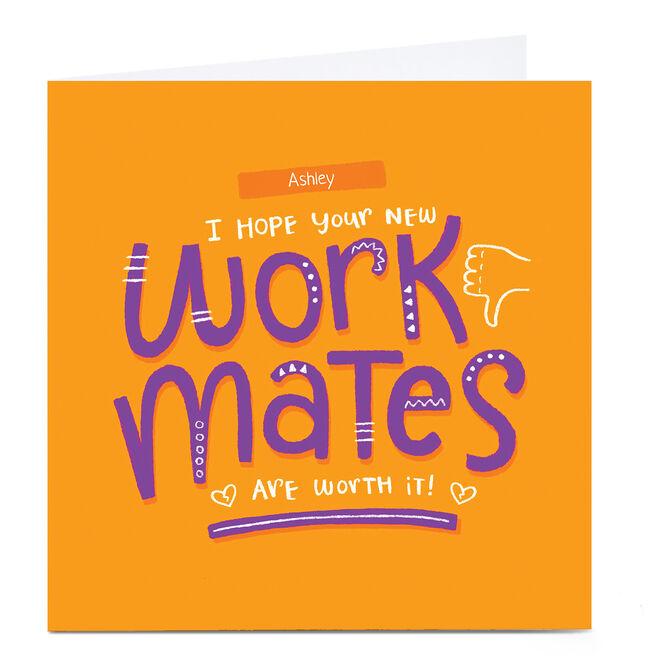 Personalised Blue Kiwi Leaving Card - New Work Mates