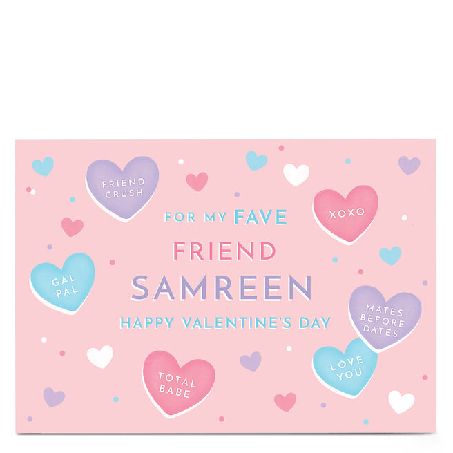 Personalised Valentine's Day Card - For My Fave