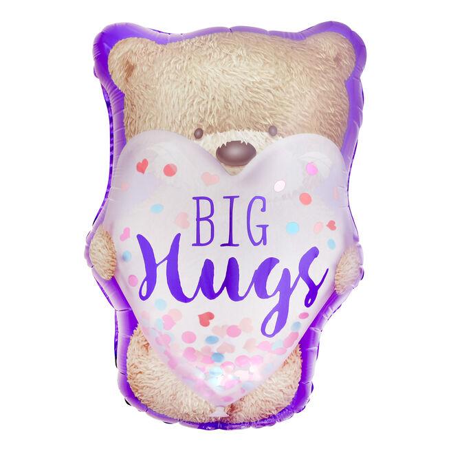 Hugs Bear 27-Inch Foil Helium Balloon (Deflated)