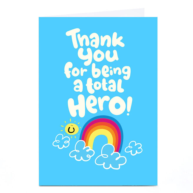 Personalised Fruitloops Thank You Card - A Total Hero!