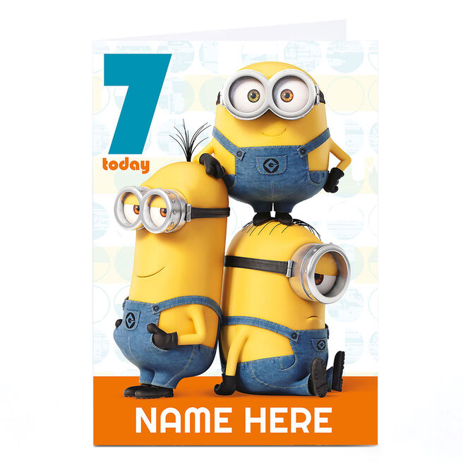 Personalised Despicable Me Card - Minion Age 7