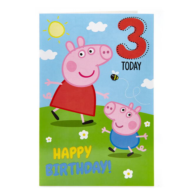 Peppa Pig 3rd Birthday Card