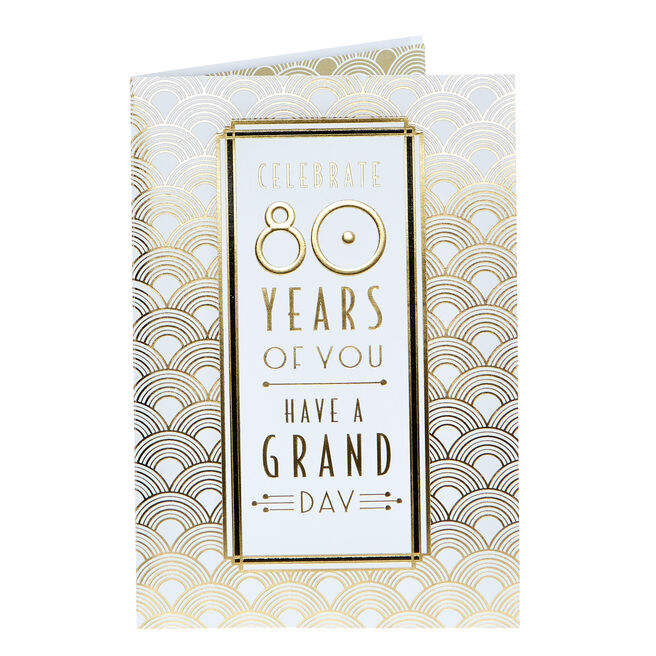 80th Birthday Card - Have A Grand Day