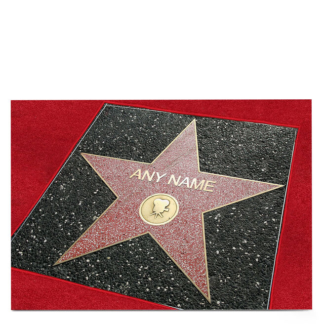 Personalised Card - Star Of Fame