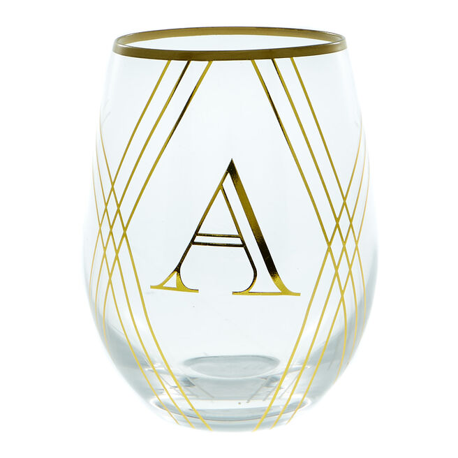 Letter A Glass Tumbler