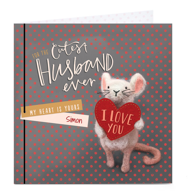 Personalised Valentine's Card - Cutest Husband Ever