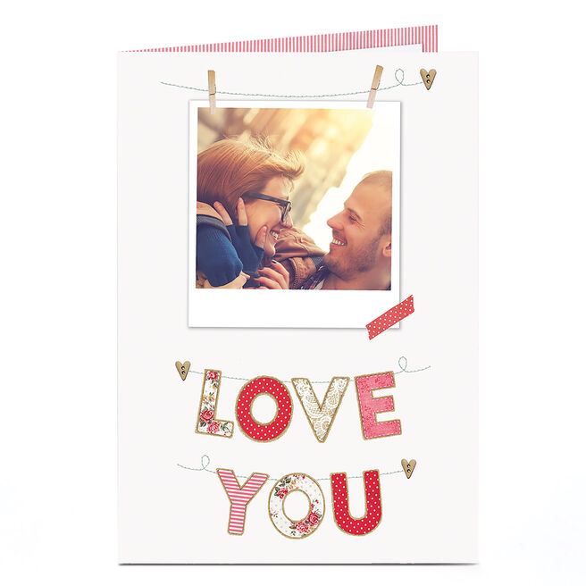 Photo Card - Polaroid & Love You Bunting