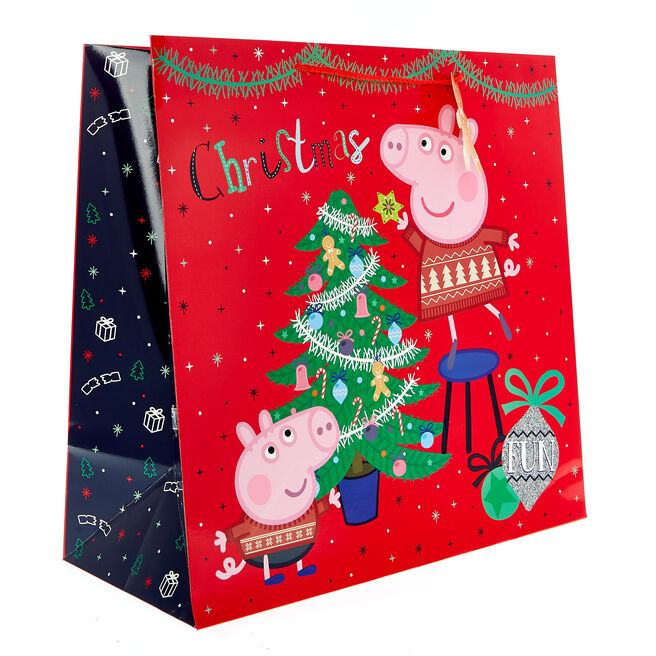 Jumbo Square Peppa Pig Christmas Gift Bag