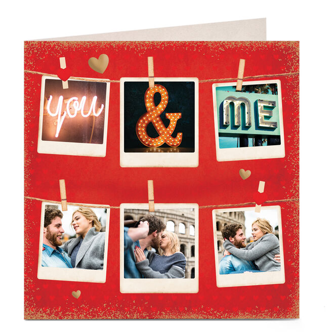 Personalised Valentine's Photo Card - You & Me