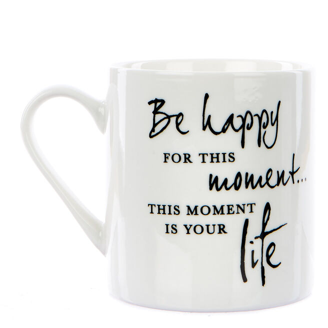 Victoria Meredith Thoughts For Life Mug - Be Happy