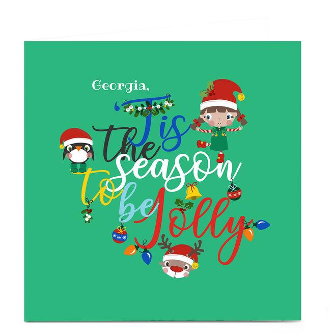 Personalised Rachel Griffin Christmas Card - Tis the Season
