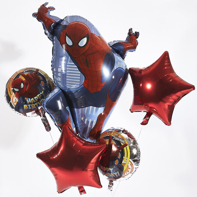 Marvel Spider-Man Helium Balloon Bouquet (Deflated)