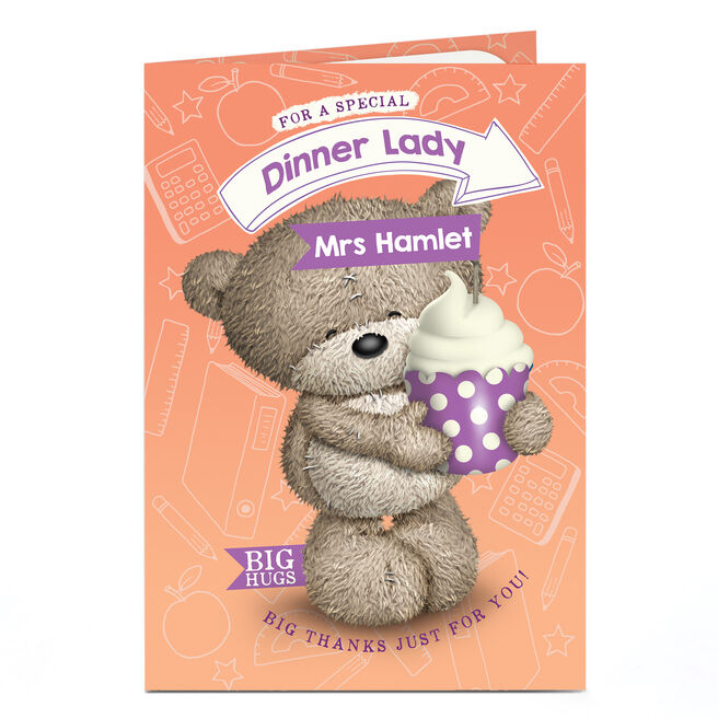 Personalised Thank You Card - Special Dinner Lady
