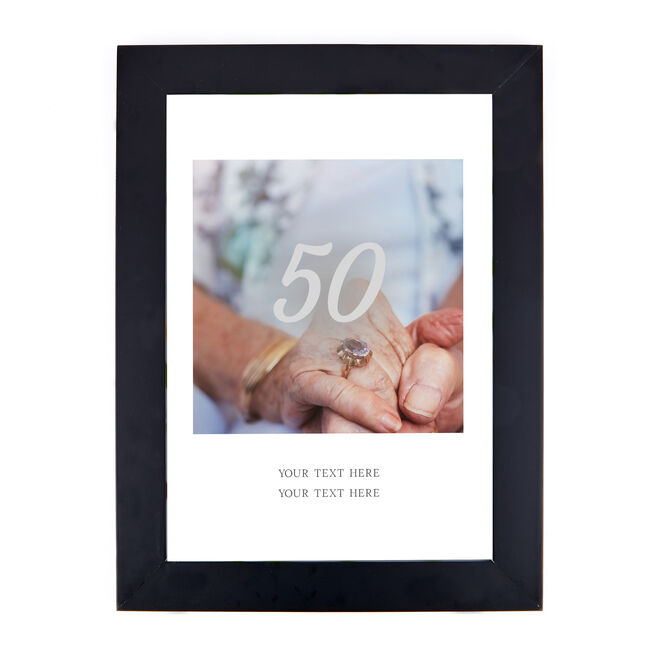 Personalised Photo Print - Anniversary Years With Message