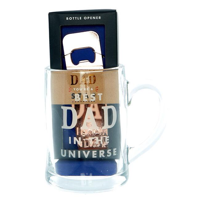 Best Dad In The Universe Tankard & Bottle Opener