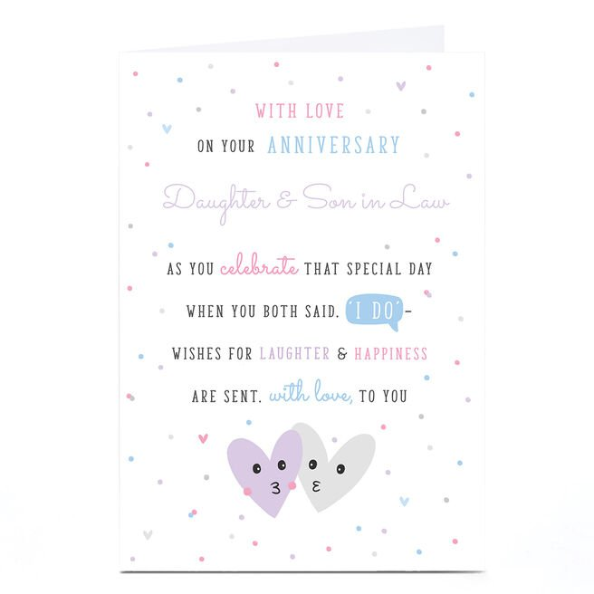 Personalised Anniversary Card - With Love To You