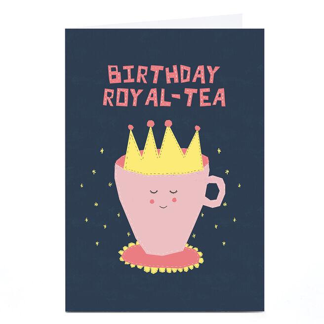 Personalised Phoebe Munger Birthday Card - Royal Tea