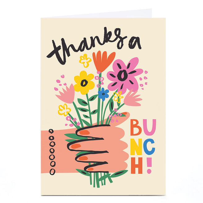 Personalised Ashley Le Quere Thank You Card - Thanks a Bunch