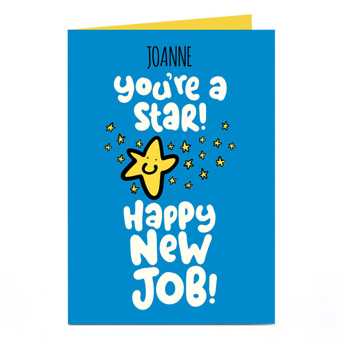 Personalised Fruitloops New Job Card - You're a Star