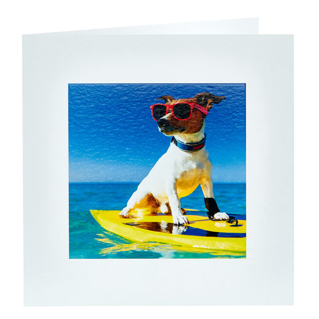 Any Occasion Card - Surfing Dog