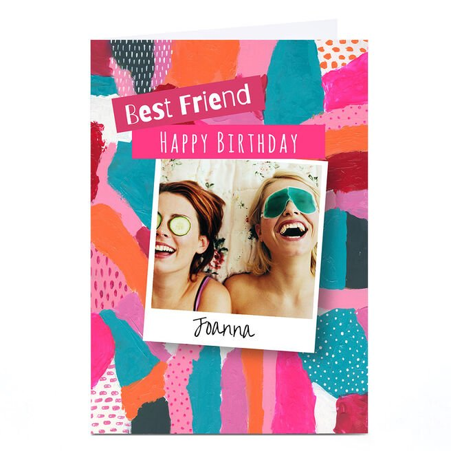 Personalised Emma Isaacs Birthday Card - Best Friend Upload