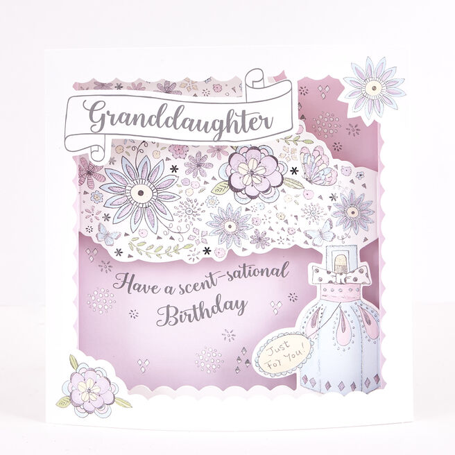Boutique Collection Birthday Card - Granddaughter Perfume