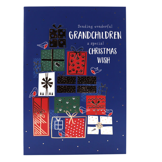 Christmas Card - Wonderful Grandchildren