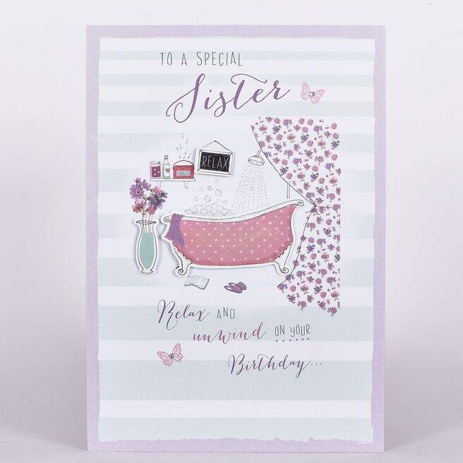 Signature Collection Birthday Card - Sister Bathroom