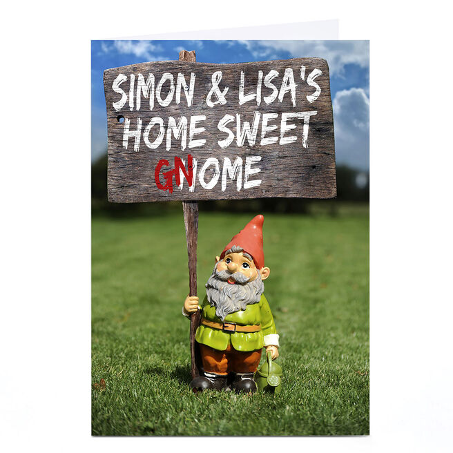 Personalised Card - Home Sweet Gnome