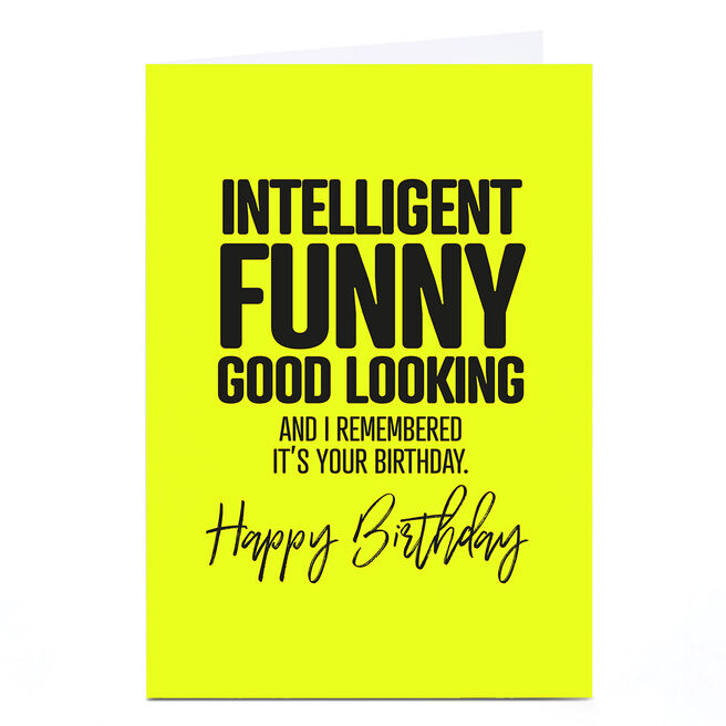 Personalised Punk Birthday Card - Intelligent, Funny...