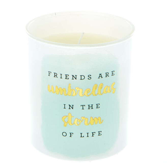 Friends are Umbrellas Vanilla Scented Candle