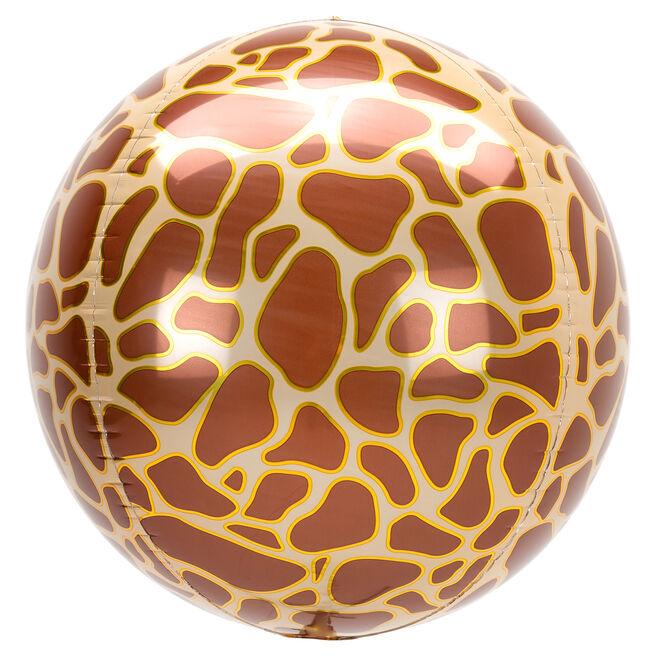 Orb-Shaped Giraffe Print 16 Foil Helium Balloon