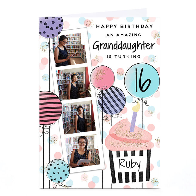 Photo Birthday Card - Polaroid Strip, Any Age & Recipient