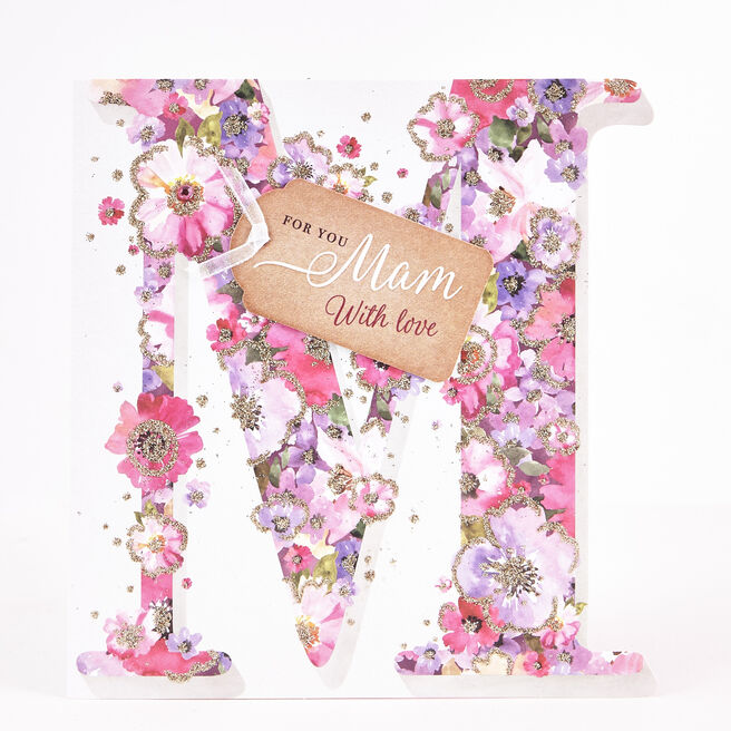 Boutique Collection Birthday Card - M For Mam