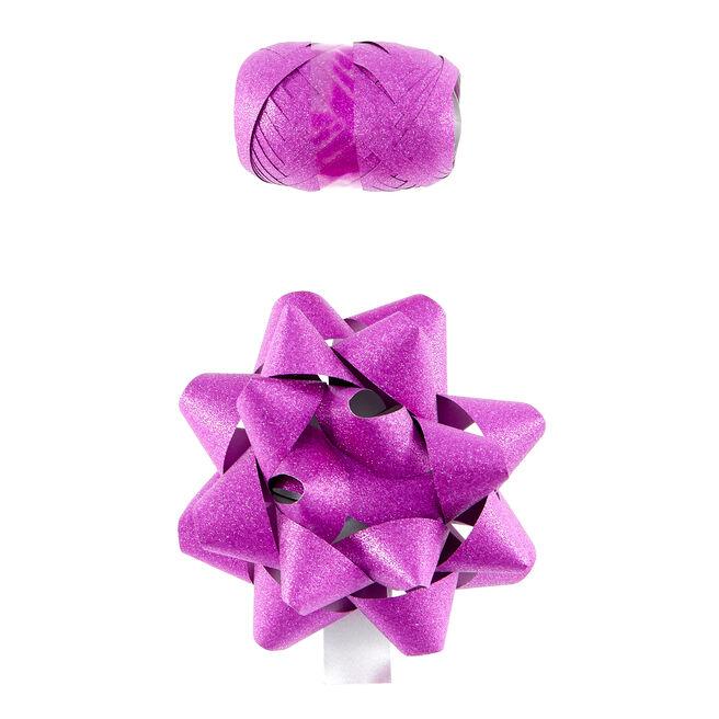 Pink Glitter Bow & Ribbon
