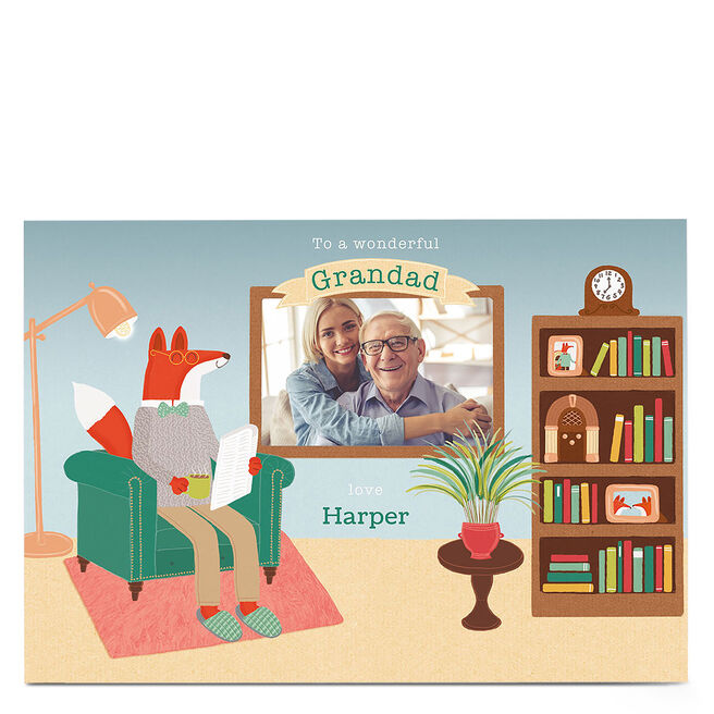 Photo Card - To A Wonderful Grandad