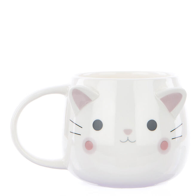Pawsome Pals - White Cat Mug