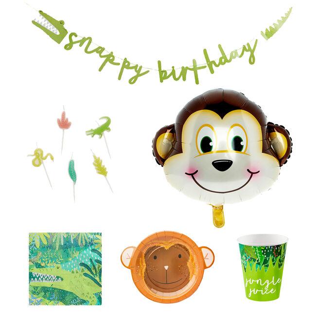 Jungle Birthday Party Tableware & Decorations Bundle - 47 pieces