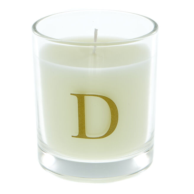 Letter D Warm Cashmere Scented Candle