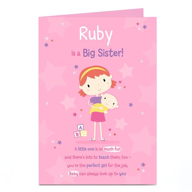 Personalised Card - New Baby - Big Sister