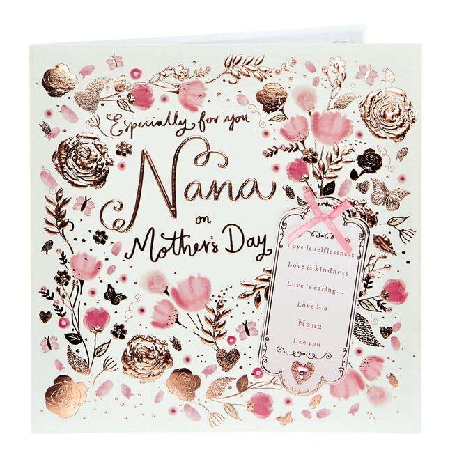 Exquisite Collection Mother's Day Card - For You Nana