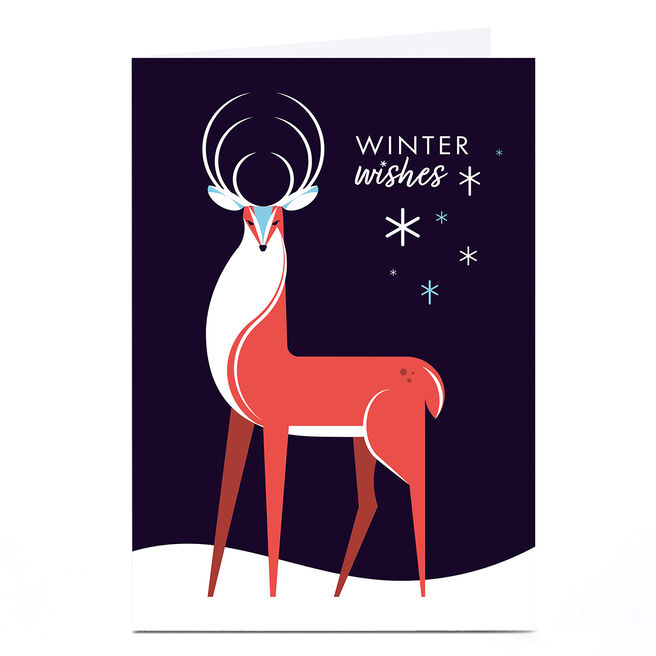 Personalised Neil Clark Christmas Card - Winter Wishes
