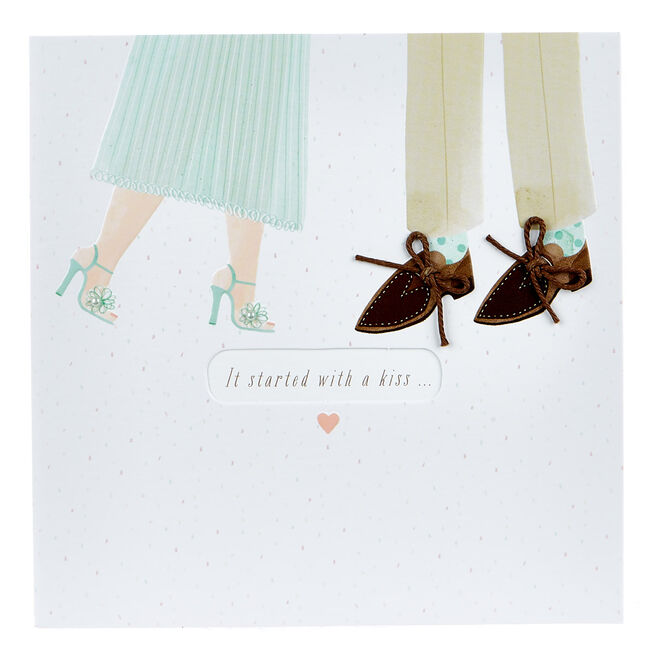 Boutique Collection Anniversary Card - It Started With A Kiss...