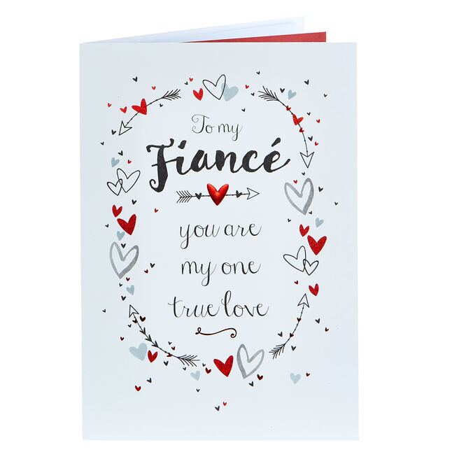 Valentine's Day Card - Fiance My One True Love